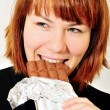 Enjoying of chocolate — Stock Photo #9158216