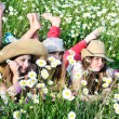 Girls on meadow — Stock Photo #9158486