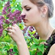 Smell of lilac - Stock Photo