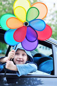 Fun in car — Stock Photo