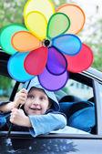 Zábava v autě — Stock fotografie
