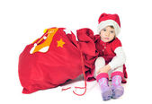 Presents form little santa — Stock Photo