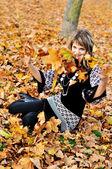Outono divertido — Fotografia Stock
