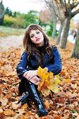 Autunno dorato nel parco — Foto Stock