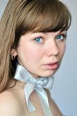 Blue-eyed portrait — Stock Photo