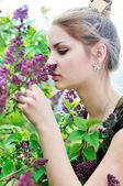 Smell of lilac — Stock Photo