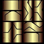 Background image frames to split on a black background — Stock Vector