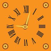 Reloj con esfera blanca — Vector de stock
