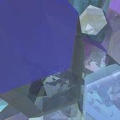 Průhledné krystaly — Stock fotografie