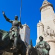 Don Quixote and Sancho Panzstatue - Madrid Spain — Stock Photo #10228130