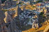 Cappadocia Turkey at sunset — Stock Photo