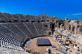 Old amphitheater in Side, Turkey — Stock Photo