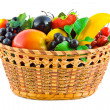 Basket with fruits — Stock Photo #10268303