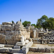Ruins of temple in Corinth - Stock Photo
