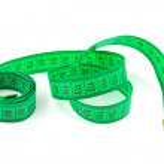verde cinta métrica — Foto de Stock