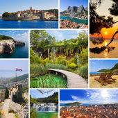 Collage de imágenes de viajes de croacia — Foto de Stock