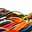 Multicolored computer cable — Stock Photo #10413241