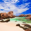 Tropical beach at Seychelles — Stock Photo #10413261