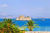 Bourtzi castle island in Nafplion, Greece — Stock Photo