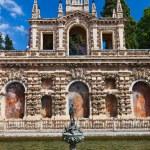 Real Alcazar Gardens in Seville Spain — Stock Photo #10513848