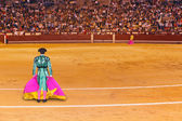 Matador in bullfighting arena at Madrid — Stock Photo