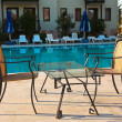 Water pool and cafe in hotel - Stock Photo