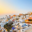 Santorini sunset (Oia) - Greece - Stock Photo
