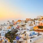 Santorini sunset (Oia) - Greece — Stock Photo