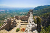 Ruins of old fort in Mystras, Greece — Stock Photo