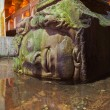 Medusa head at Underground water Basilica Cistern - Istanbul - Stock Photo
