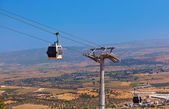Cableway car in ancient city of Pergamon Turkey — Stock Photo