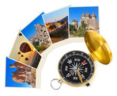 Cappadocia Turkey images and compass — Stock Photo