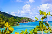 Tropical island Curieuse at Seychelles — Stock Photo