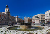 Sol plaza in Madrid Spain — Stock Photo