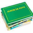 Stack of photo albums — Stock Photo