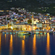 Town Makarska in Croatia at night — Stock Photo #7980406