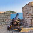 Stock Photo: Retro cannon at Dubrovnik, Croatia