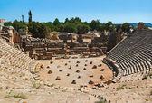 Ancient amphitheater in Myra, Turkey — Stock Photo