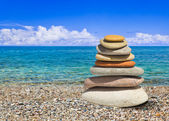 стек камни на пляже — Стоковое фото
