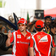 SEPANG, MALAYSIA - APRIL 10: Fernando Alonso and Felipe Massa (F — Stock Photo