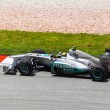 SEPANG, MALAYSIA - APRIL 8: Niko Rosberg (team Mercedes Petronas — Stock Photo