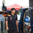 Постер, плакат: SEPANG MALAYSIA APRIL 10: Mark Webber team Red Bull Racing