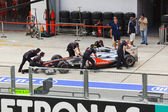 SEPANG, MALAYSIA - APRIL 8: Jenson Button (team Vodafone McLaren — Stock Photo