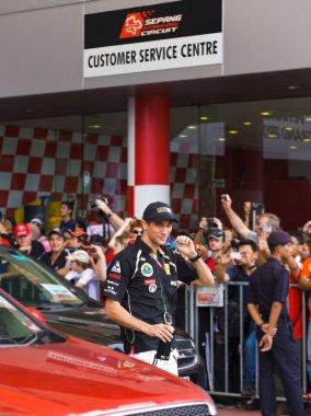 SEPANG, MALAYSIA - APRIL 10: Vitaly Petrov (team Lotus Renault)