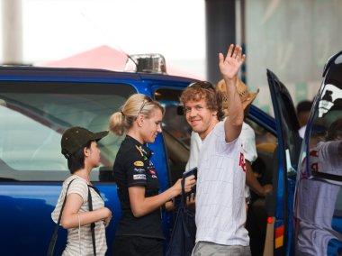 SEPANG, MALAYSIA - APRIL 10: Sebastian Vettel (team Red Bull Rac