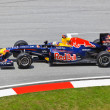 Stock Photo: SEPANG, MALAYSI- APRIL 8: SebastiVettel (team Red Bull Raci