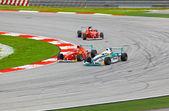 SEPANG, MALAYSIA - APRIL 10: Cars on track at race of JK Racing — Stock Photo