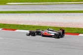 SEPANG, MALAYSIA - APRIL 8: Jenson Button (team McLaren Mercedes — Stock Photo