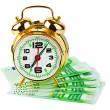 Alarm clock and money — Foto de Stock