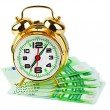 Alarm clock and money — Foto Stock
